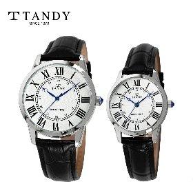 탠디 클래식 커플 가죽손목시계 T-1714