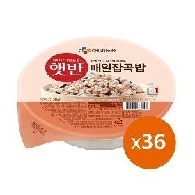 햇반 매일잡곡밥 36개