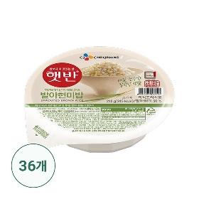 햇반 발아현미밥 36개