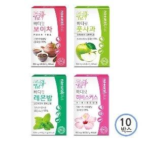 바디핏 레몬밤/보이차/풋사과/히비스커스 30정*10박스