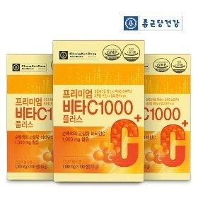 [종근당건강] 프리미엄 비타C1000 플러스 100정*3박스/300일분