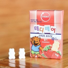 [인탁트] 테디베어 포도당 캔디 (딸기맛) 5개