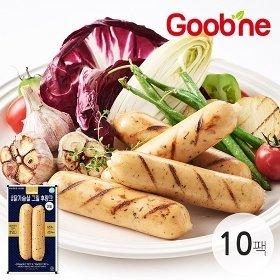 굽네 닭가슴살 그릴후랑크(마늘) 120g 10팩_AL03