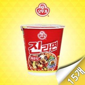 [오뚜기] 진라면 매운맛 미니컵 15입 (65g x 15개)
