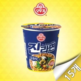 [오뚜기] 진라면 순한맛 미니컵 15입 (65g x 15개)