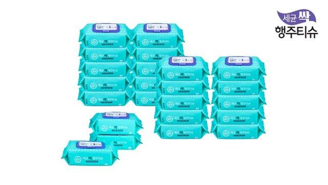 세균싹 행주티슈 1+1 세트 (사은품: 본품 3팩) / 총 23팩!