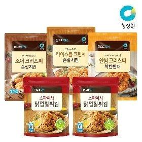 청정원 집으로ON 순살치킨 2개 (3종선택) + 집으로ON 닭껍질튀김 x 2개