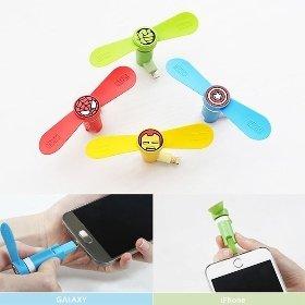 마블 캐릭터 스마트폰 휴대용 미니 선풍기(5핀/8핀)