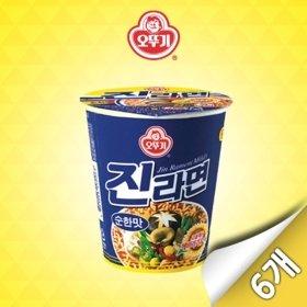 [오뚜기] 진라면 순한맛 미니컵 6입 (65g x 6개)