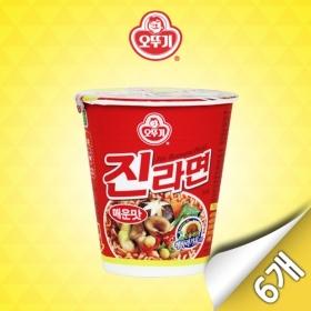 [오뚜기] 진라면 매운맛 미니컵 6입 (65g x 6개)