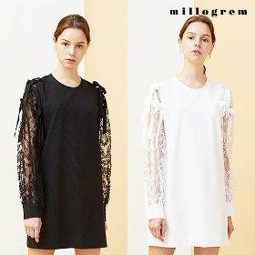 [밀로그램] 벨 레이스드 드레스
