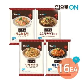 [청정원] 집으로ON 팔선생 볶음밥 16인분(새우/해물/소고기/잡채) 구성 택1