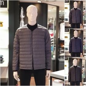 [백화점] 흄(HUM) 구스다운 라운드 경량점퍼, HNWCUE140P