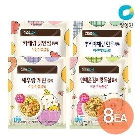 집으로ON 어린이볶음밥 180g x 8개 골라담기(뿌리야채한우/카레닭안심/김치목살/새우계란)