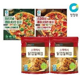 청정원 피자 2개 (4종 선택) + 집으로ON 닭껍질튀김 2개