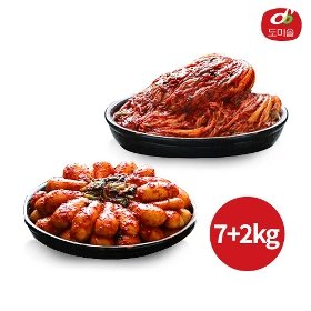 [도미솔] 박미희달인 포기김치 7kg + 총각김치 2kg