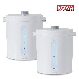 [NOWA] 노와 무선진공쌀통 10kg 더블세트 (화이트+화이트)