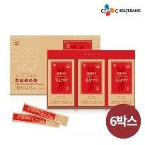 CJ 한뿌리 홍삼기력 6박스(180포) + 선물용 쇼핑백 6장