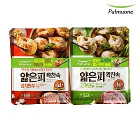 풀무원 얇은피꽉찬속 김치만두 2봉+고기만두 2봉(총4봉)