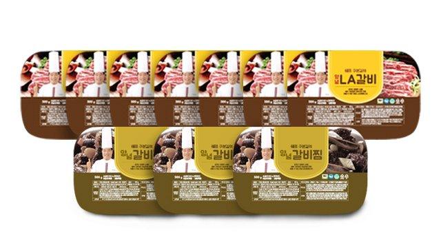 쉐프 구본길의 LA갈비 500g 7팩 + 양념갈비찜 500g 3팩