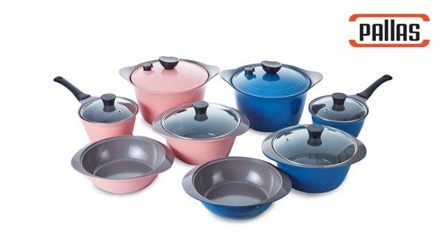 팰러스 티타늄 세라믹 냄비세트 (핑크/블루 선택)