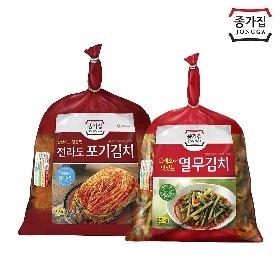 종가집 전라도 포기김치 3.3kg+열무김치 2.5kg