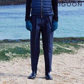 [리군] 플랫 포켓 세미 배기팬츠