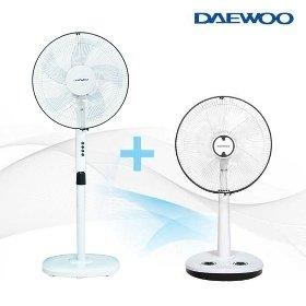 [W쇼핑 기획가] 대우 스탠드형 선풍기 2세트 (14형 + 16형, 키높이형 선풍기)