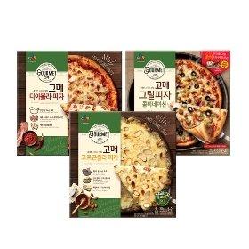 [CJ제일제당] 고메 고르곤졸라 피자 300g*1 + 디아볼라피자 300g*1 + 콤비네이션 피자 415g*1