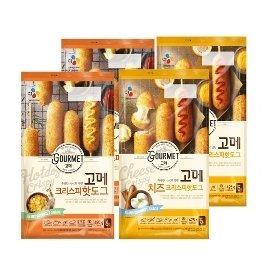 [CJ제일제당] 고메 핫도그 480g*2 + 고메 치즈 핫도그 425g*2