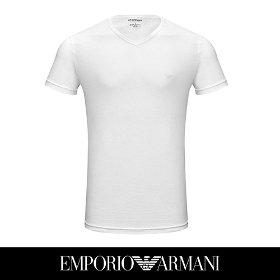 [아르마니] 남성 면 브이넥 티셔츠 1종 화이트