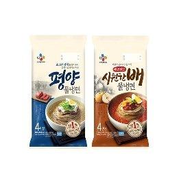 [CJ제일제당 본사배송] 평양물냉면 4인분+매콤달큰 시원한 배 물냉면 4인분 (총 8인분)