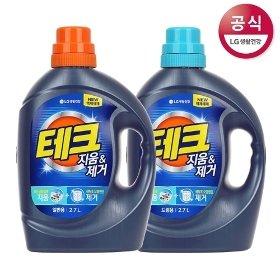 [사은증정]테크 지움제거 액체세제 용기 일반용/드럼용 2.7L x2개