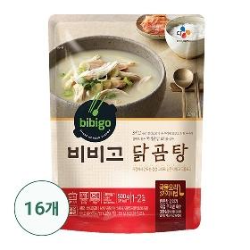 [CJ제일제당 본사배송] 비비고 닭곰탕 16팩