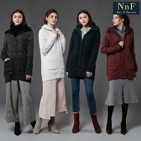 [NNF] 여성 보노보 알파카 패딩 니트 코트