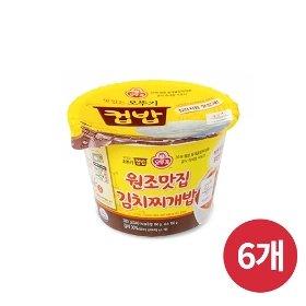 [오뚜기] 컵밥 원조맛집 김치찌개밥 (280g) x 6