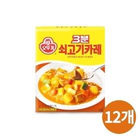 [오뚜기] 3분 쇠고기카레 (200g) x 12