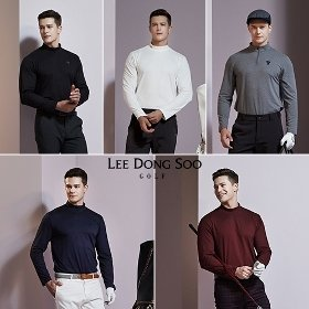 [19FW] 이동수골프 웜 클라우드 하프 넥 기모 티셔츠 5종 세트,남성