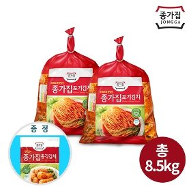 [종가집] 포기김치 8kg +(증정)총각김치500g