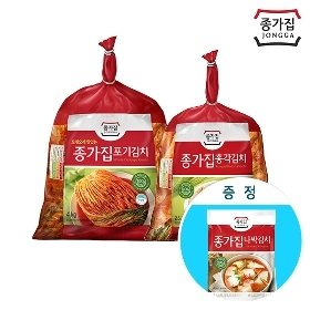 [종가집] 포기김치4kg+총각김치2.5kg+(증정)담백한 나박김치1kg