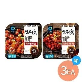 청정원 안주야 3팩(직화막창/직화무뼈닭발160g 택1)