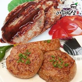 [이든밥상] 6쪽마늘 떡갈비(100gx10개/1kg) + 수제함박스테이크(100gx10개/1kg)