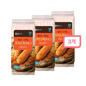 청정원 집으로ON 크리스피 핫도그 375g(5개입) 3봉세트