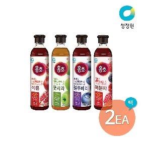 청정원 홍초 900ml 2개 세트 (풋사과/블루베리/복분자/석류)