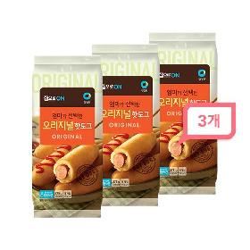 청정원 집으로ON 오리지널 핫도그375g(5개입) 3봉세트