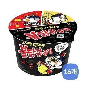 [삼양식품]불닭볶음면 큰컵라면105gx16개