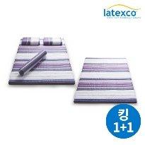 [킹 1+1] 벨기에 LATEXCO 라텍스 토퍼매트리스
