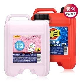 한입 테크 일반드럼겸용 대용량 액체세제 8L