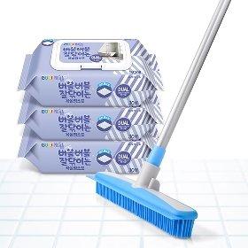 [욕실청소SET] 미스터퍼펙트 소프트 실리콘 빗자루+코디 욕실 청소포 3팩