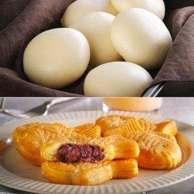 [안흥찐빵] 겨울 간식 찐빵+붕어빵 2종 세트(쌀찐빵10개+붕어빵500g)